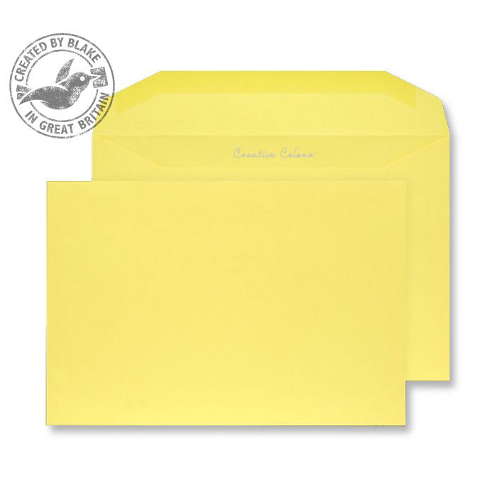 Creative Colour Banana Yellow Gummed Wallet 120gsm C5+ 162x235mm Ref 803M Pk 500 *10 Day Leadtime*