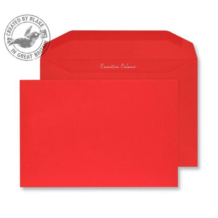 Creative Colour Pillar Box Red Gummed Wallet 120gsm C5+ 162x235mm Ref 806M Pk 500 10 Day Leadtime