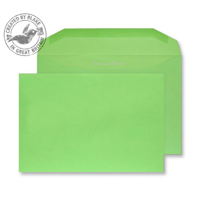 Creative Colour Lime Green Gummed Wallet 120gsm C5+ 162x235mm Ref 807M [Pack 500] 10 Day Leadtime