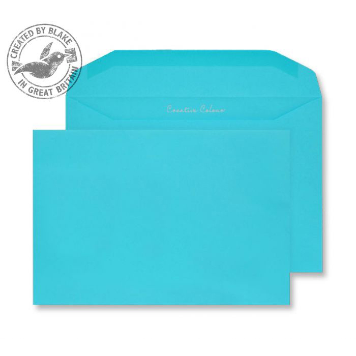 Creative Colour Cocktail Blue Gummed Wallet 120gsm C5+ 162x235mm Ref 809M Pk 500 10 Day Leadtime