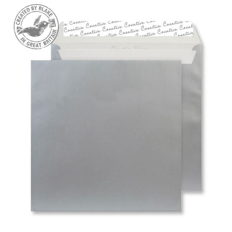 Creative Shine Metallic Silver Peel and Seal Wallet 220x220mm Ref 512 [Pack 250] 10 Day Leadtime