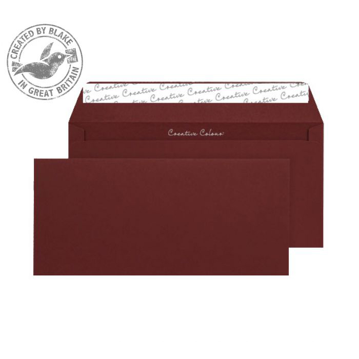 Creative Colour Wallet P&S Bordeaux 120gsm DL+ 114x229mm Ref 222 [Pack 500] *10 Day Leadtime*