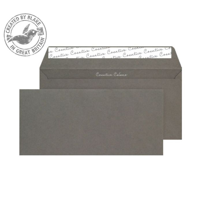 Creative Colour Wallet P&S Graphite Grey 120gsm DL+ 114x229mm Ref 224 [Pack 500] 10 Day Leadtime