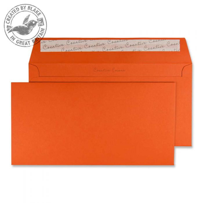 Creative Colour Wallet P&S Marmalade Orange 120gsm DL+ 114x229mm Ref 228 Pk 500 *10 Day Leadtime*