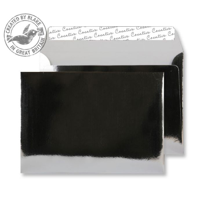Creative Shine Wallet P&S Chrome Plated 140gsm C5 162x229mm Ref EF391 [Pack 100] 10 Day Leadtime
