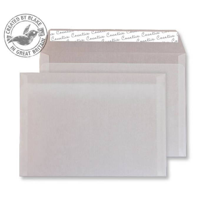 Creative Senses Wallet P&S Translucent White 90gsm C5 162x229mm Ref ICE615 Pk 250 *10 Day Leadtime*