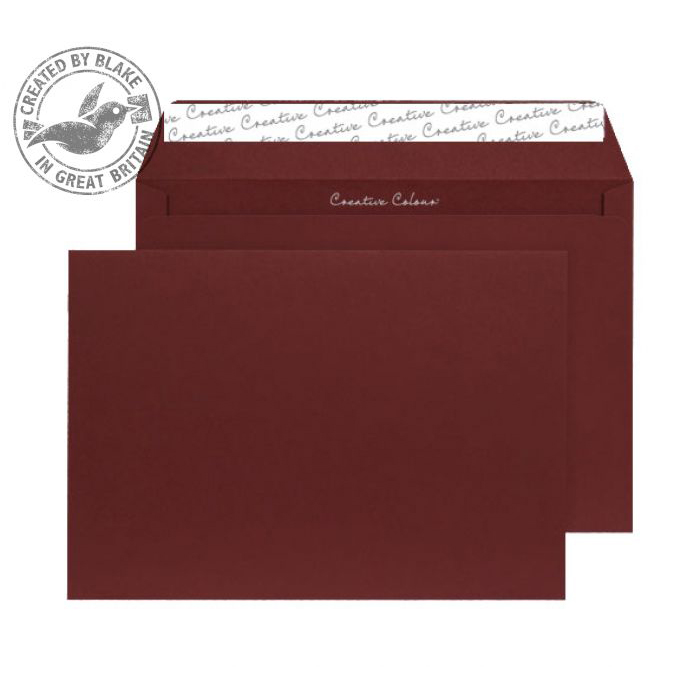 Creative Colour Bordeaux Peel and Seal Wallet C4 229x324mm Ref 422 [Pack 250] 10 Day Leadtime