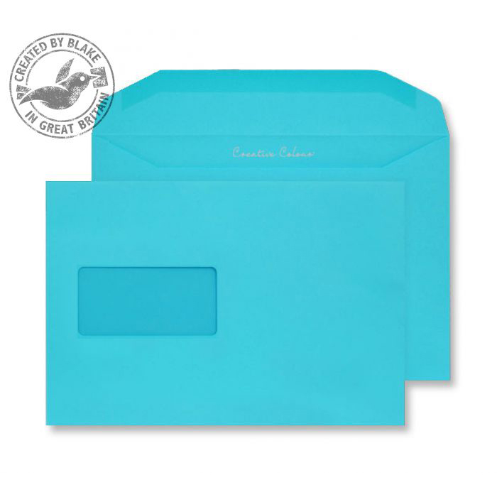 Creative Colour Cocktail Blue Gum Wallet Wndw 120gsm C5+ 162x235 Ref 809MW Pk500 *10 Day Leadtime*