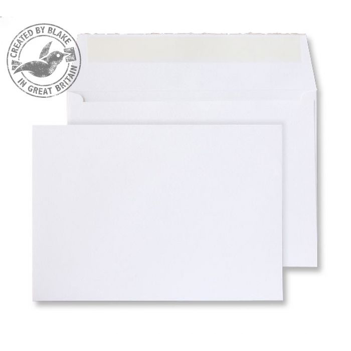 Creative Senses Wallet P&S Beautifully White 180gsm C6 114x162mm Ref DE143 Pk 50 10 Day Leadtime