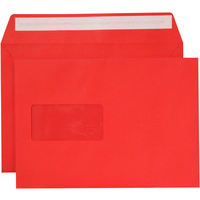 Creative Colour Pillar Box Red P&S Wallet Window C5 162x229mm Ref 306W Pack 500 *10 Day Leadtime*