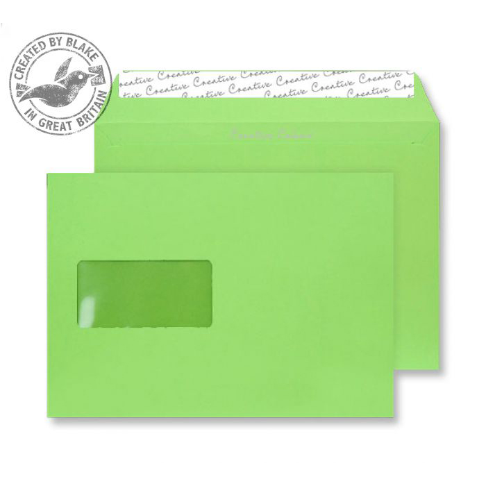 Creative Colour Lime Green P&S Wallet Window C5 162x229mm Ref 307W Pack 500 *10 Day Leadtime*