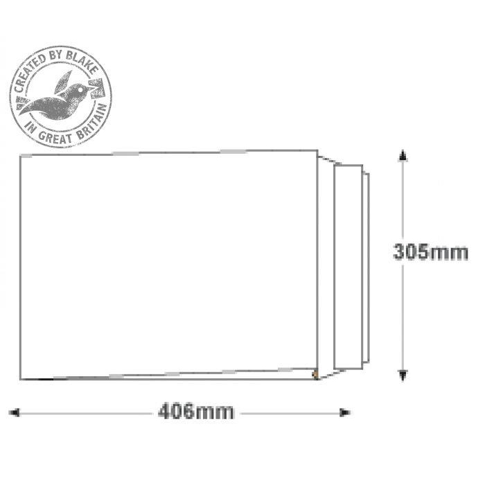 Blake Premium Secure Pocket P&S White 406x305x50mm 125gsm Ref TR44401 [Pack 100] 10 Day Leadtime