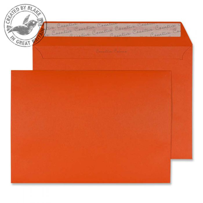 Creative Colour Wallet P&S Marmalade Orange 120gsm C5 162x229mm Ref 328 Pk 500 *10 Day Leadtime*