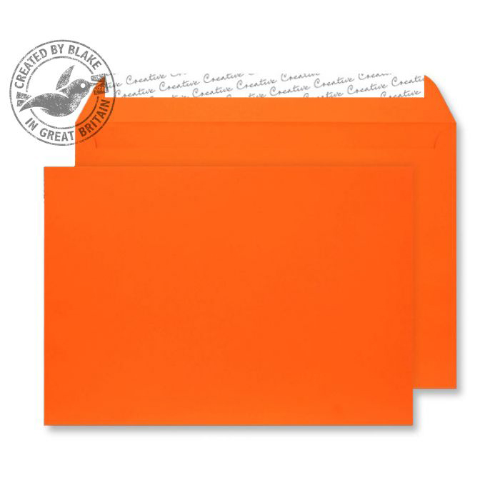 Creative Senses Wallet P&S Orange Velvet C4 229x324mm 140gsm Ref V742 Pack 125 *10 Day Leadtime*