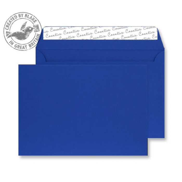 Creative Senses Wallet P&S Blue Velvet C4 229x324mm 140gsm Ref V744 [Pack 125] *10 Day Leadtime*