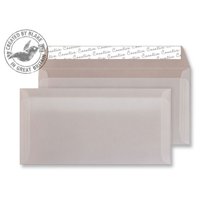 Blake Creative Senses DLWallet Peel&Seal 110gsm Translucent White Ref 215 Pack500 *3to5 Day Leadtime*