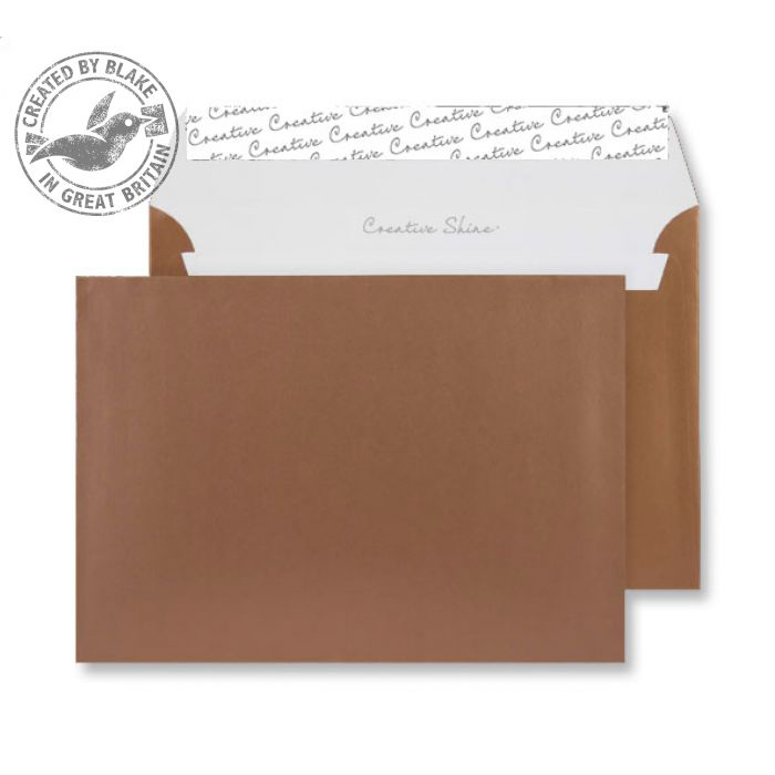 Creative Shine Metallic Copper P&S Wallet C5 162x229mm Ref 332 [Pack 500] 10 Day Leadtime
