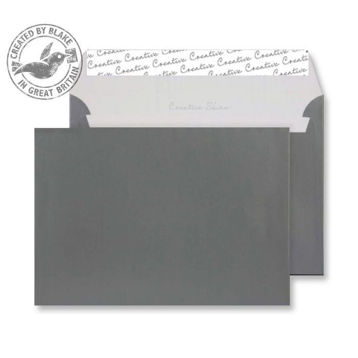 Creative Shine Metallic Gunmetal P&S Wallet C5 162x229mm Ref 333 [Pack 500] *10 Day Leadtime*