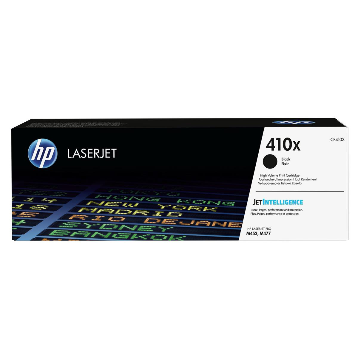 HP 410X Laser Toner Cartridge High Yield Page Life 6500pp Black Ref CF410X
