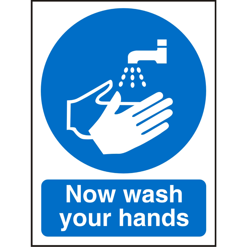 Prestige Acrylic Sign 2mm 150x200 Now Wash Your Hands Ref ACM001150x200 *Up to 10 Day Leadtime*