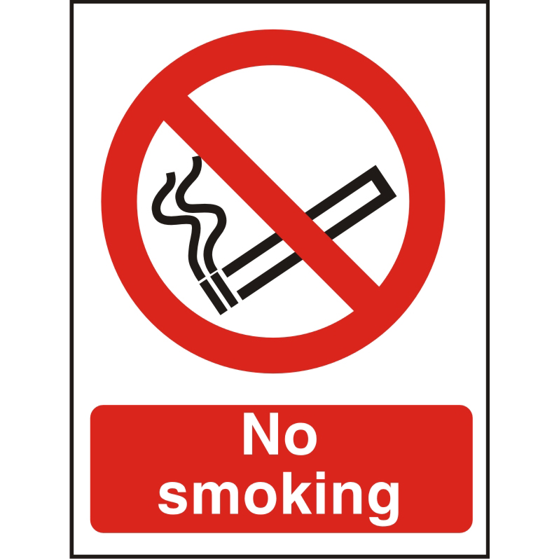 Prestige Acrylc Sign 2mmdoublesided backing 150x200 No Smoking Ref ACP089150x200 Up to 10 Day Leadtime