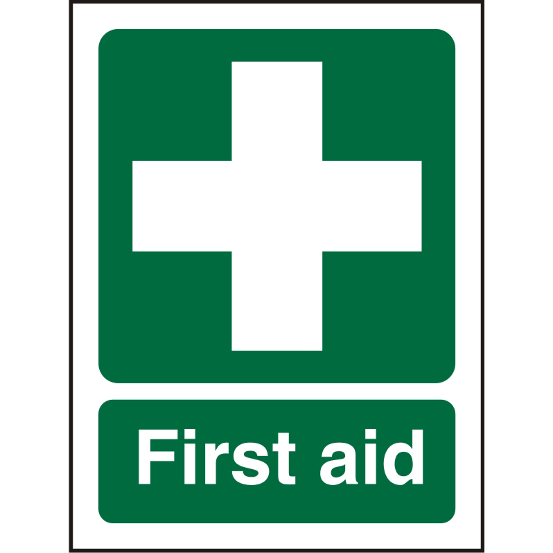 Prestige Acrylc Sign 2mmdoublesided backing 150x200 First Aid Ref ACSP310150x200 Up to 10 Day Leadtime