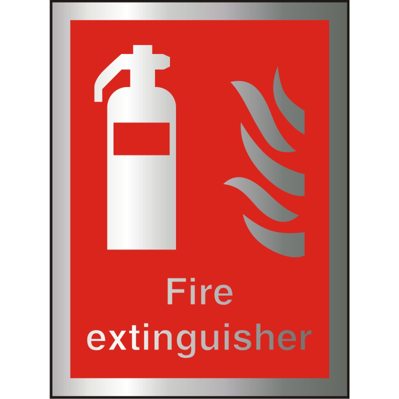 Brushed Alu Comp Sign 150x200 1.5mm Alu S/A Fire Extinguisher Ref BAFF071150x200 Up to 10 Day Leadtime