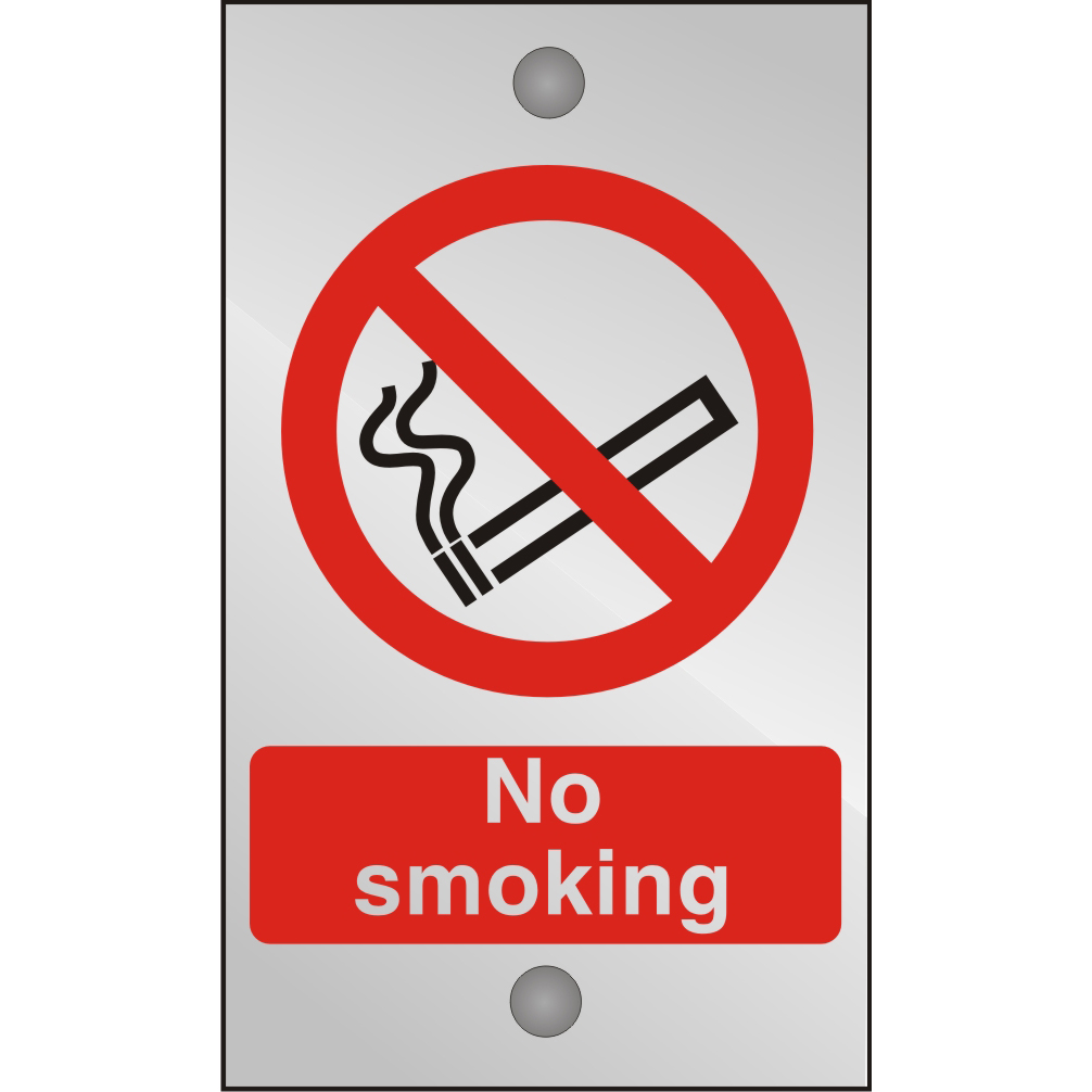 Clear Acrylic Sign 120x200 5mm Acrylic No Smoking Ref CACP089120x200 Up to 10 Day Leadtime