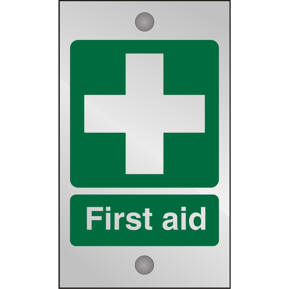 Clear Acrylic Sign 120x200 5mm Acrylic First Aid Ref CACSP310120x200 *Up to 10 Day Leadtime*