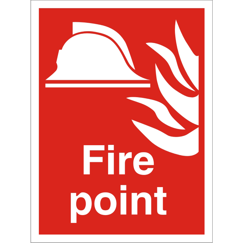 Construction Safety Board 400x600 3mm foam PVC Fire Point Ref CON053FB400x600 *Up to 10 Day Leadtime*