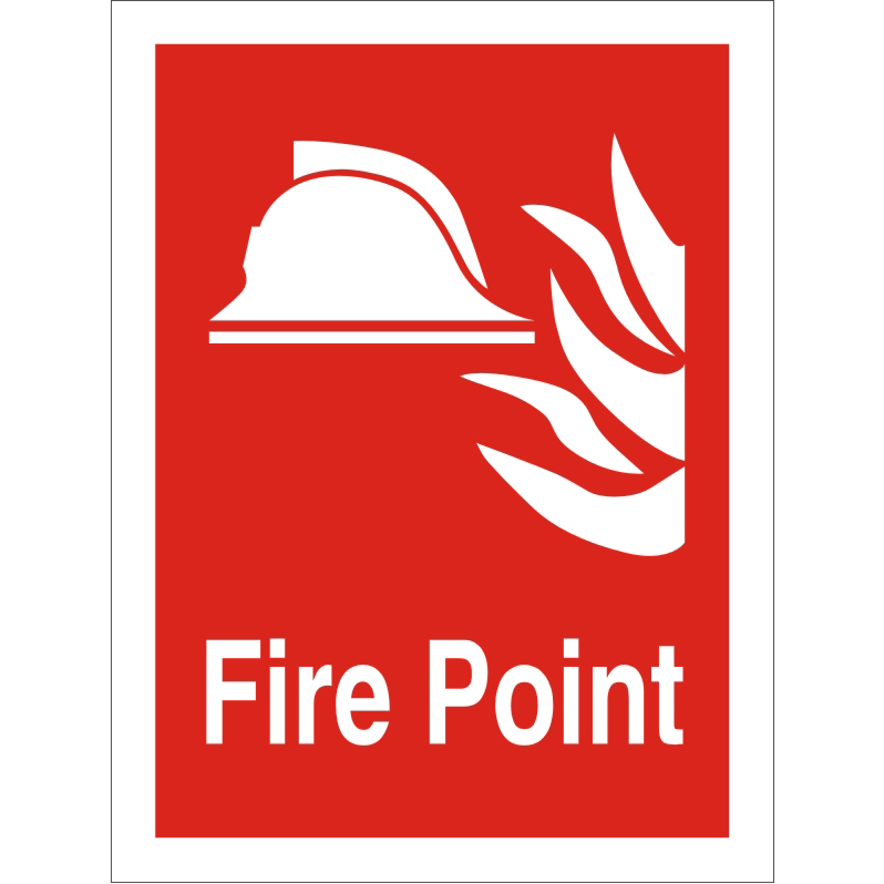 Photolum Fire Fighting Sign 200x300 1mm Plastic Fire point Ref FF070PLRP200x300 Up to 10 Day Leadtime