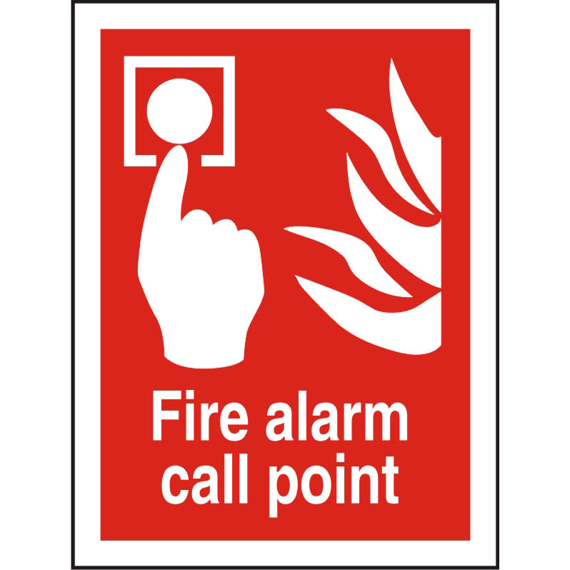 Photolum Fire Sign 200x300 S/A Vinyl Fire alarm call point Ref FF073PLV200x300 *Up to 10 Day Leadtime*