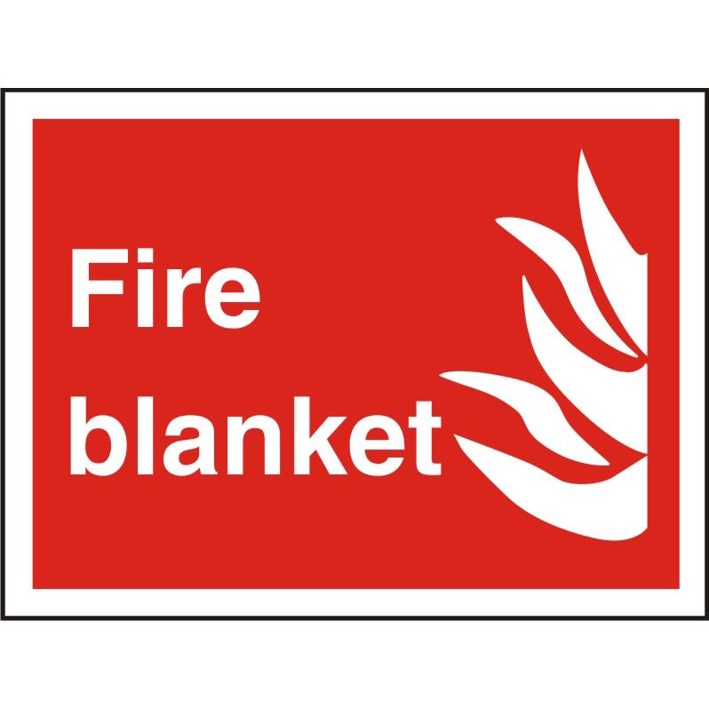 Safety signs Photolu Fire Fighting Sign 300x200 1mm Plastic Fire blanket Ref FF085PLRP300x200 *Up to 10 Day Leadtime*