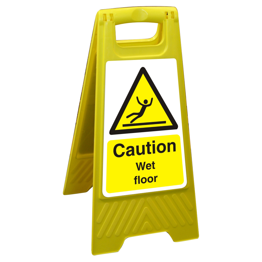Free Standing Floor Sign 300x600 Poly Caution Wet floor Ref FSS004300x600 Up to 10 Day Leadtime