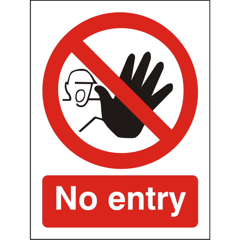Prohibition Sign 300x400 1mm Semi Rigid Plastic No entry Ref P115SRP-300x400 *Up to 10 Day Leadtime*