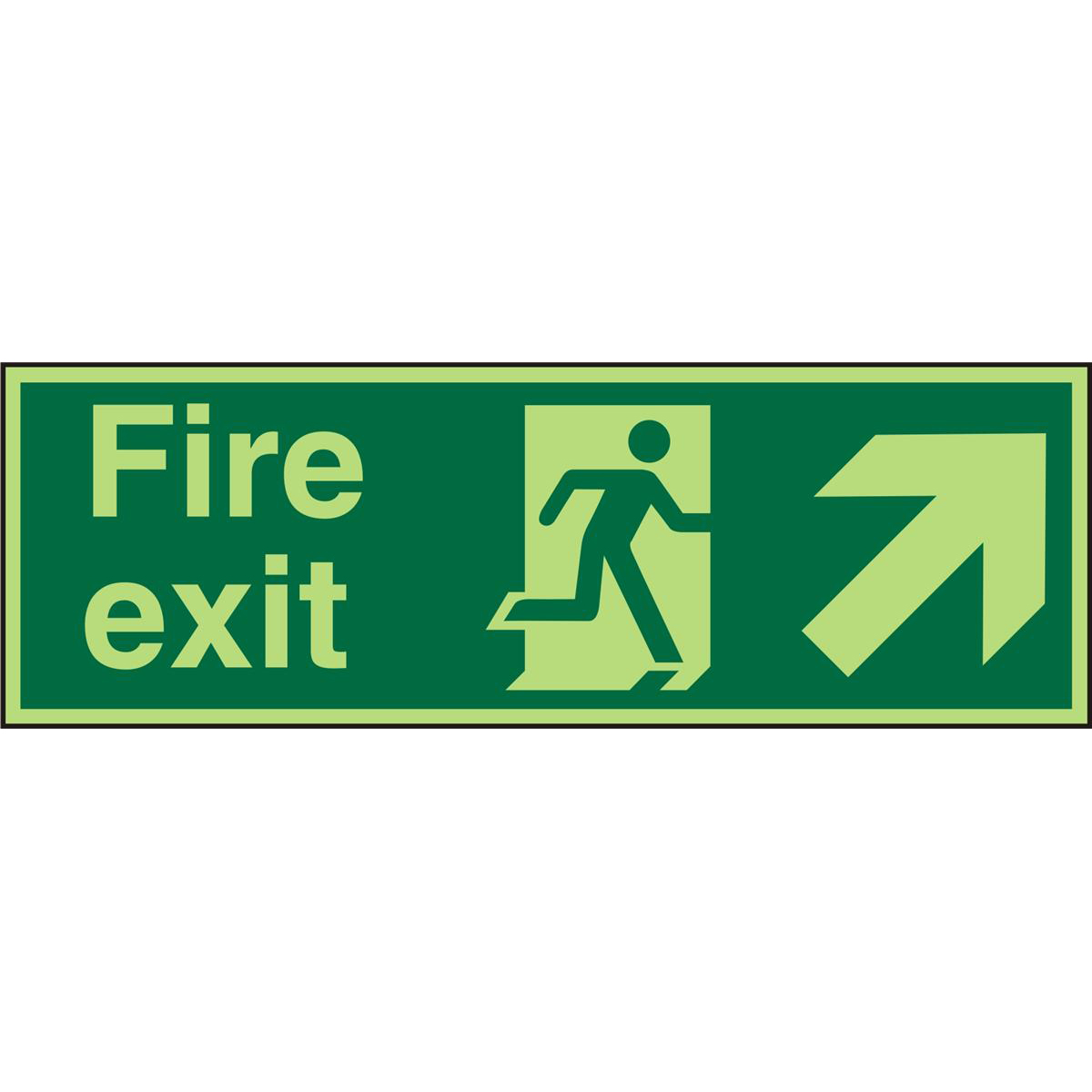 PhotolumSgns 450x150 FireExit Man Running Right&Arrow trhc Ref PACSP316450x150 *Up to 10 Day Leadtime*