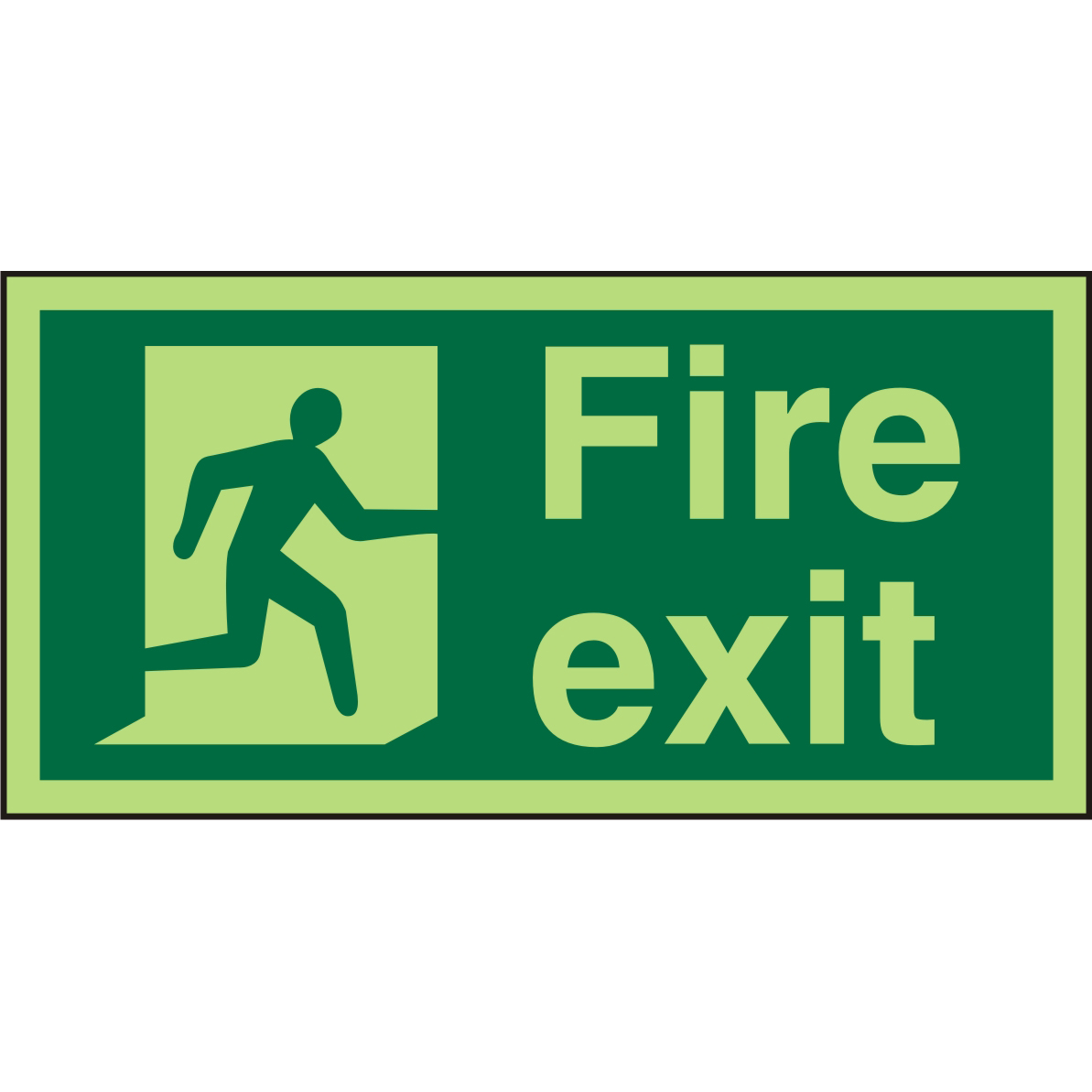 Photolum Acrylic Exit Sign 200x100 Fire Man Running Right Ref PACSP318200x100 *Up to 10 Day Leadtime*