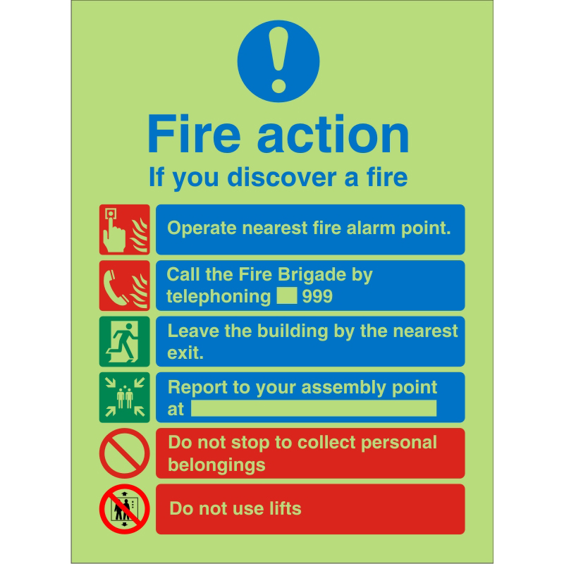 Photolum Safe Sign 200x300 1mm If You Discover A Fire Ref PM032SRP200x300 *Up to 10 Day Leadtime*