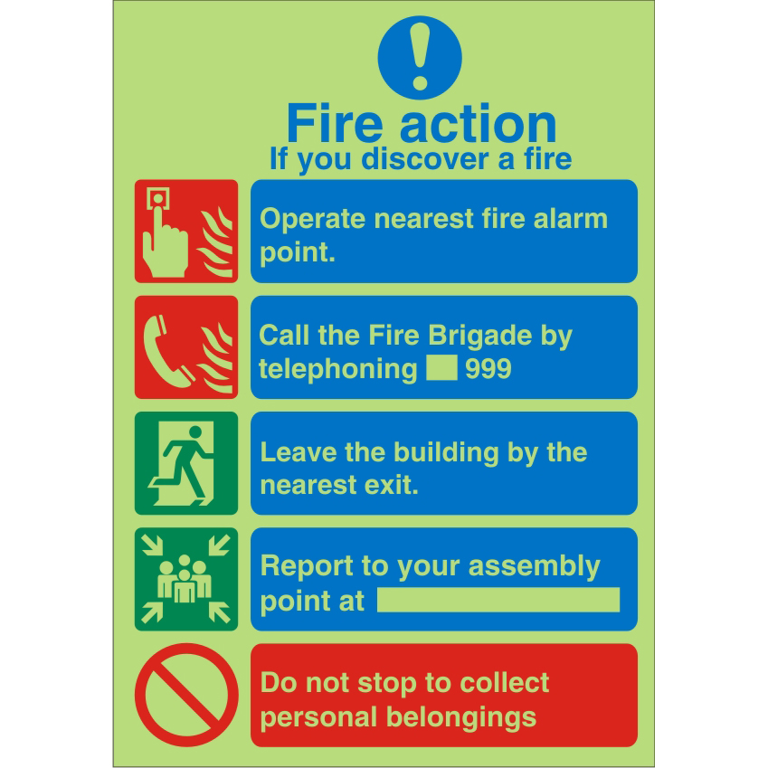 Photolum Safe Sign 200x300 1mm If You Discover A Fire Ref PM311SRP200x300 Up to 10 Day Leadtime
