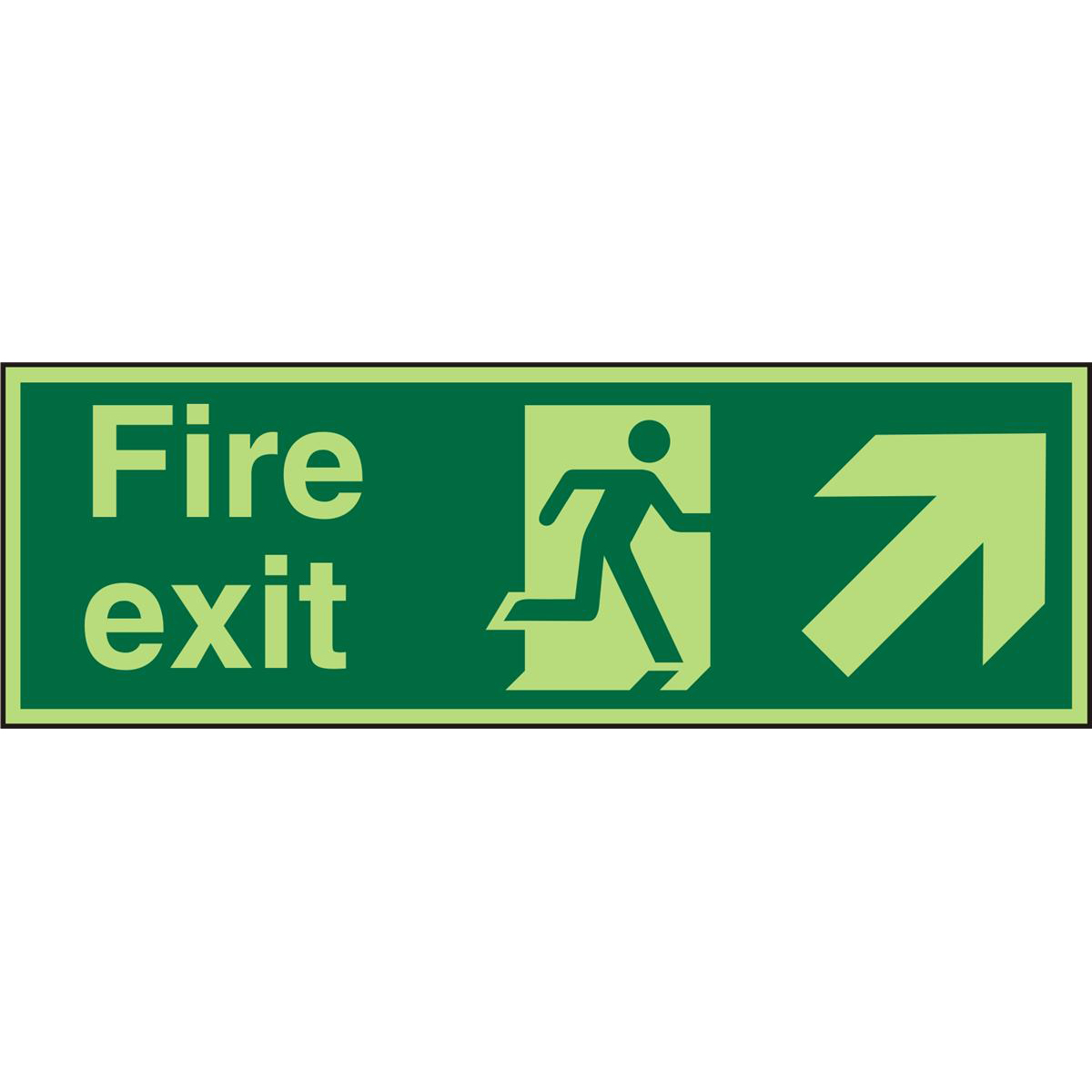 PhotolumSign 450x150 1mm FireExit Man Running Right&Arrow Ref PSP316SRP450x150 *Up to 10 Day Leadtime*