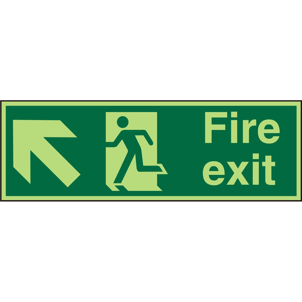 PhotolumSgns 450x150 1mm FireExit Man Running Left&Arrow Ref PSP317SRP450x150 *Up to 10 Day Leadtime*
