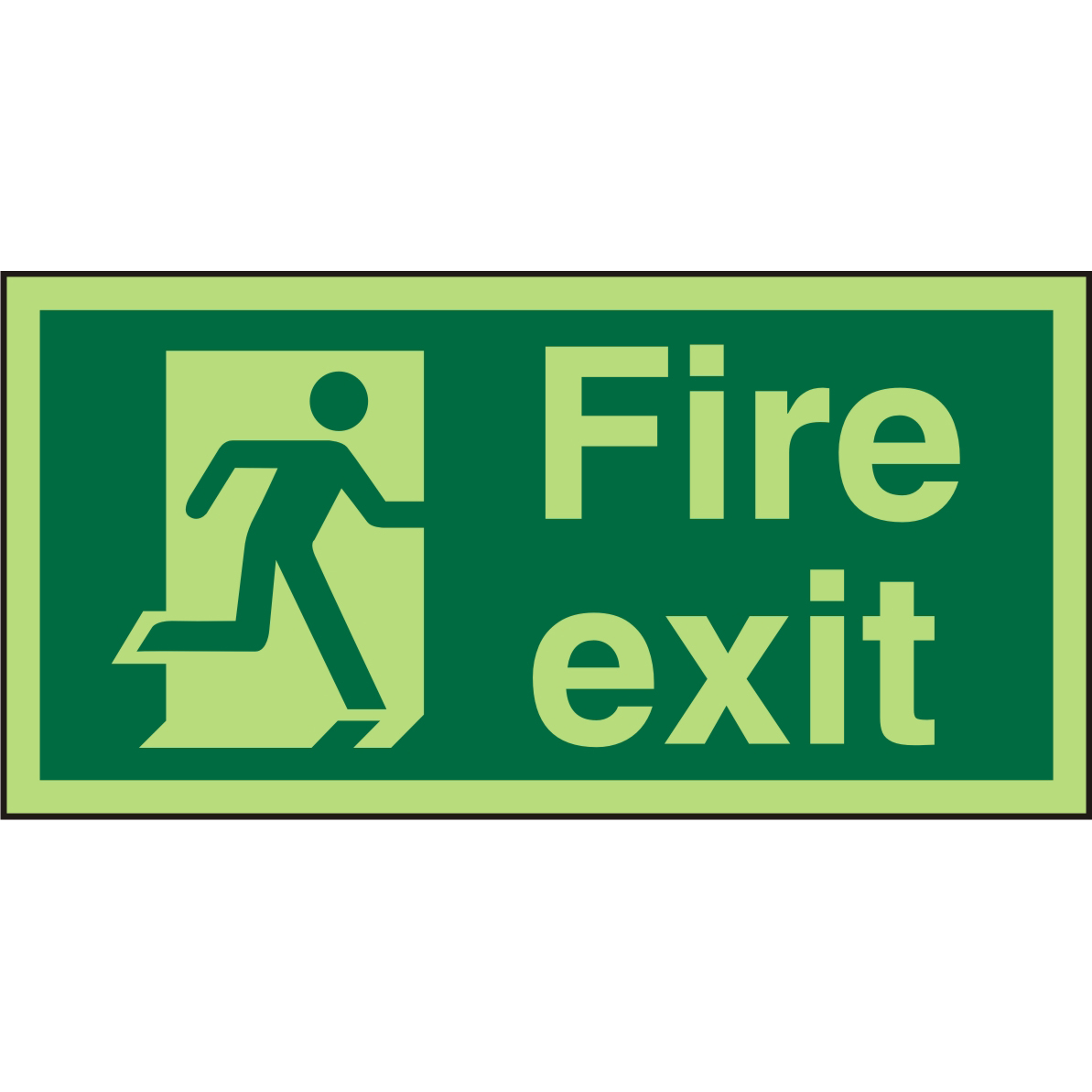 Photolum Sign 300x150 Plastic Fire Exit Man Running Right Ref PSP318SRP300x150 Up to 10 Day Leadtime