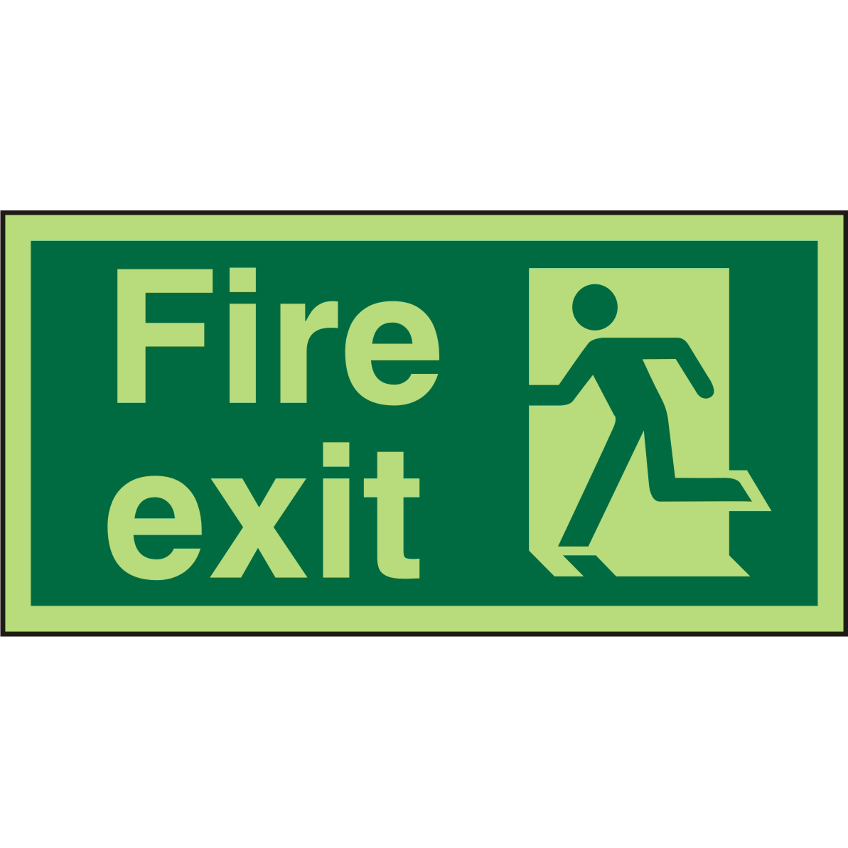 Photolu Sign 300x150 1mm Plastic Fire Exit Man Running Left Ref PSP319SRP300x150 *Up to 10 Day Leadtime*