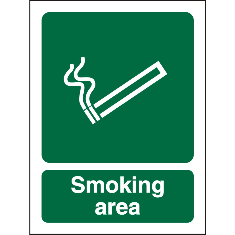 No Smoking Sign 300x400 1mm Semi Rigid Plastic Smoking Area Ref SP050SRP-300x400 *Up to 10 Day Leadtime*