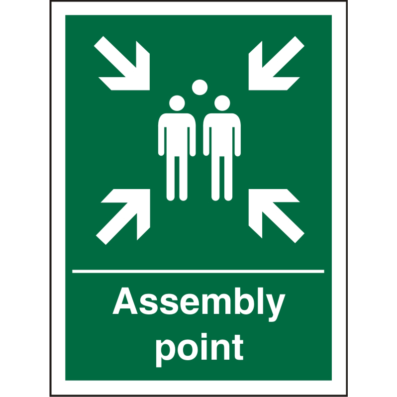 Safe Procedure Sign 300x400 1mm Plastic Assembly Point Ref SP052SRP-300x400 Up to 10 Day Leadtime