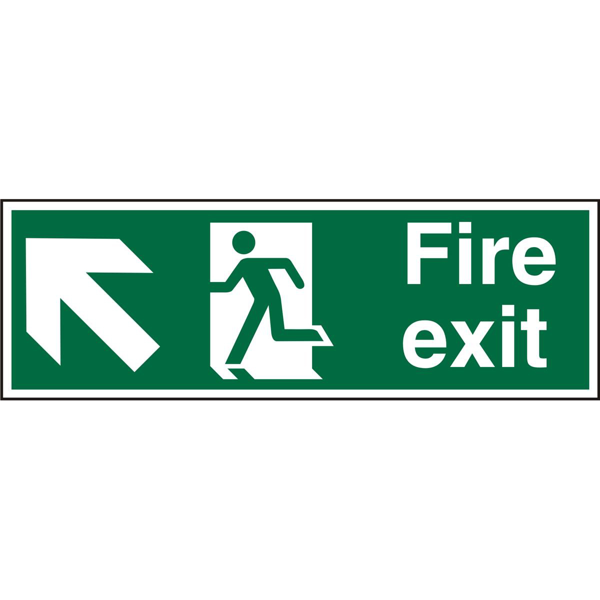 Safe Sign 600x200 1mm FireExit Man Running Left&Arrow tlhc Ref SP317SRP600x200 *Up to 10 Day Leadtime*