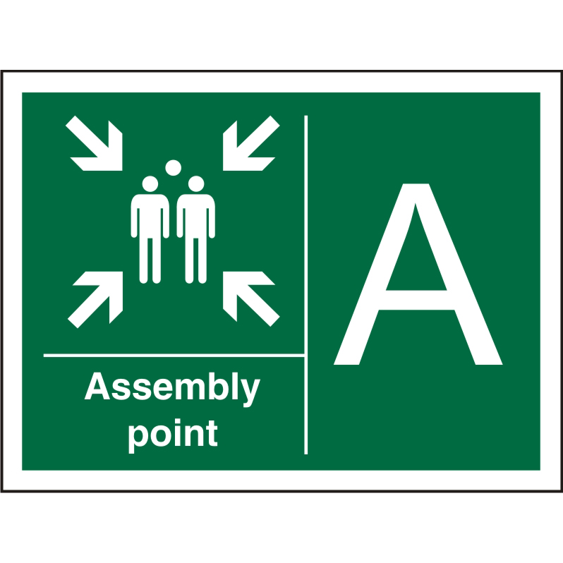Safe Procedure Sign 600x400 1mm Plastic Assembly Point - A Ref SP321SRP-600x400 Up to 10 Day Leadtime