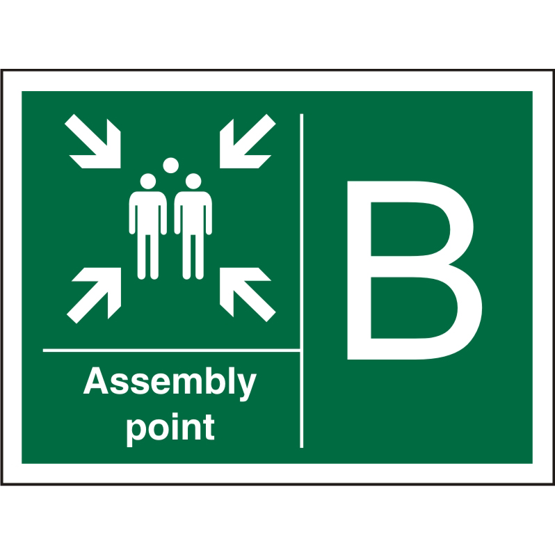 Safe Procedure Sign 600x400 1mm Plastic Assembly Point - B Ref SP322SRP-600x400 *Up to 10 Day Leadtime*