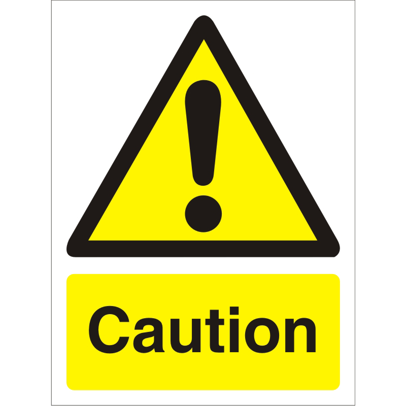 Warning Sign 300x400 1mm Semi Rigid Plastic Caution Ref W0125SRP-300x400 Up to 10 Day Leadtime
