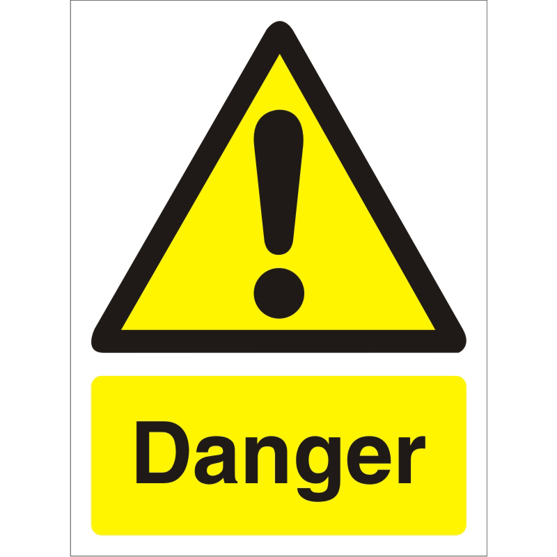 Warning Sign 300x400 1mm Semi Rigid Plastic Danger Ref W0177SRP-300x400 *Up to 10 Day Leadtime*